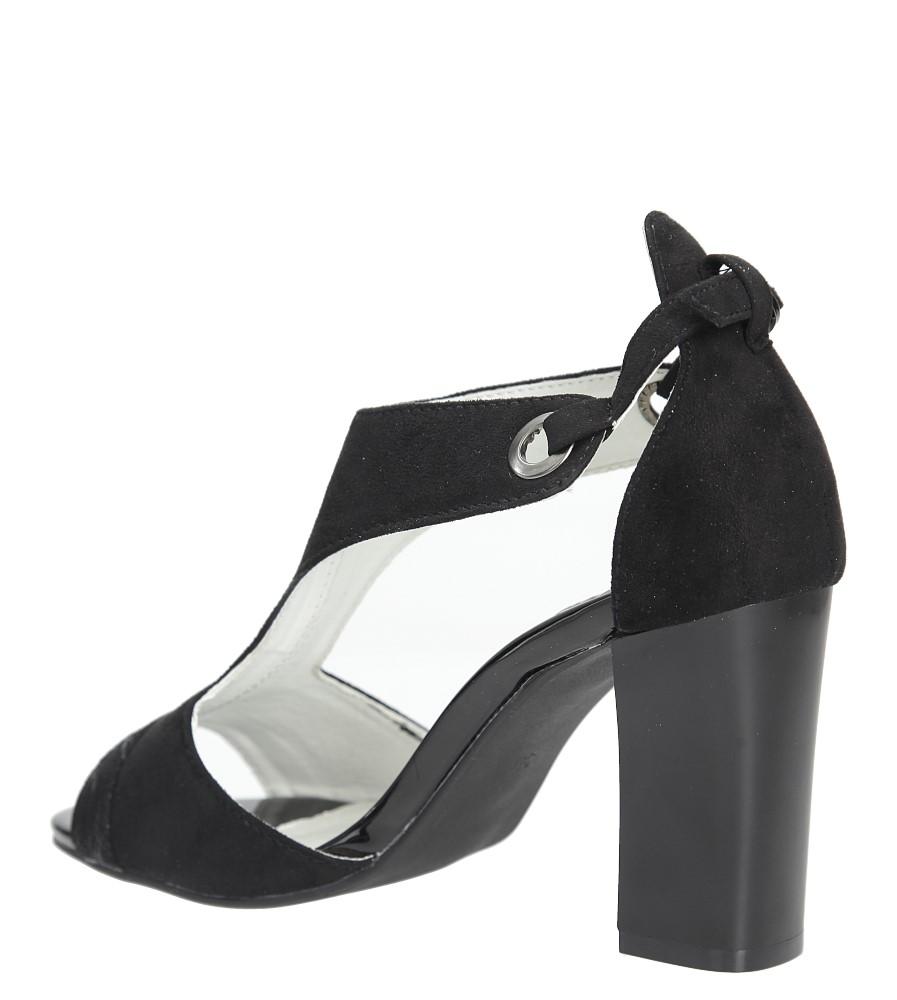 Czarne sandały na obcasie Jezzi SA109-5 wysokosc_obcasa 8.5 cm