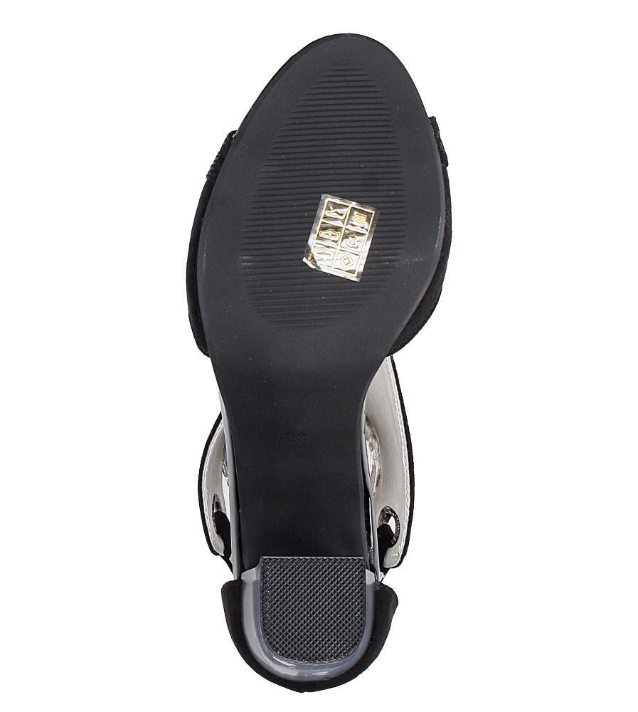 Czarne sandały na obcasie Jezzi SA109-5 wys_calkowita_buta 18.5 cm