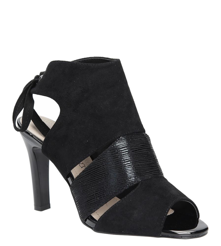 Czarne sandały na obcasie z kokardą Sergio Leone 1489 producent Sergio Leone