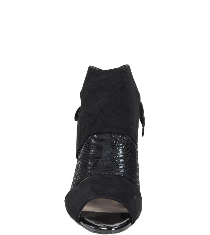 Czarne sandały na obcasie z kokardą Sergio Leone 1489 kolor czarny