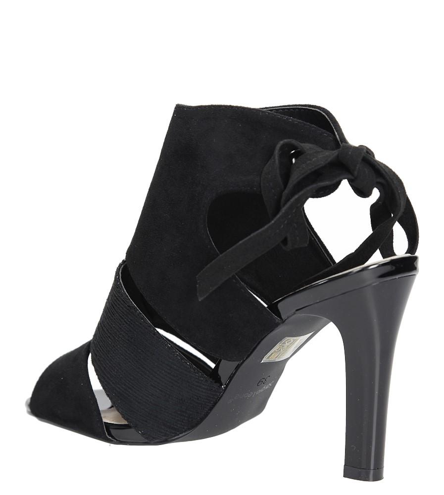 Czarne sandały na obcasie z kokardą Sergio Leone 1489 wysokosc_obcasa 10.5 cm