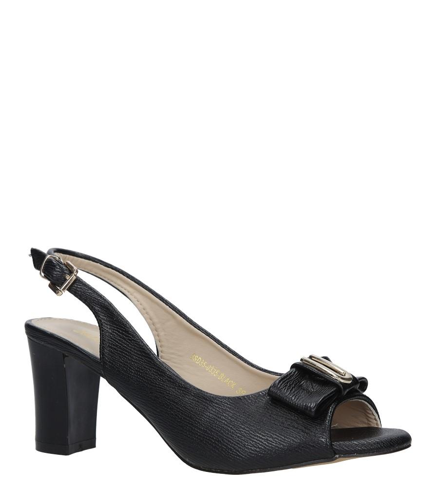 Czarne sandały na obcasie z kokardką Jezzi 8SD35-0335