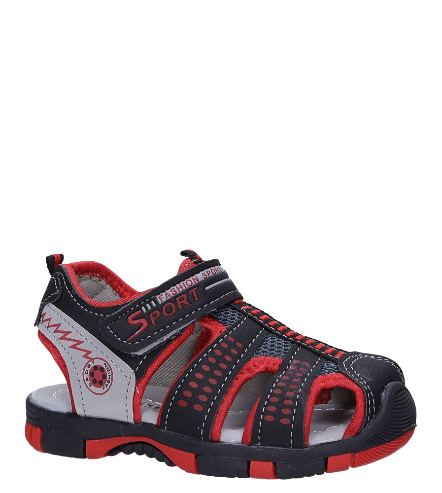 Czarne sandały na rzep Casu 58005 producent Casu