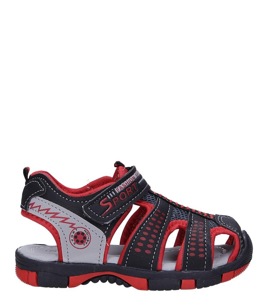 Czarne sandały na rzep Casu 58005 czarny