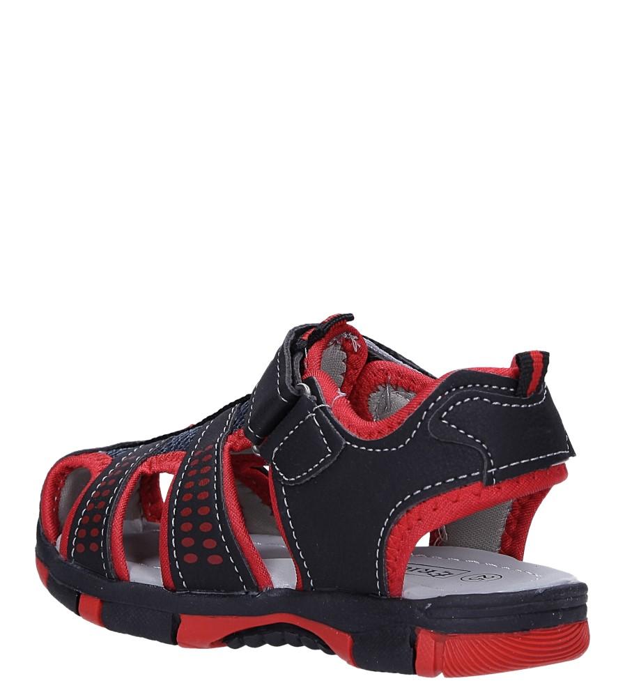 Czarne sandały na rzep Casu 58005 sezon Lato