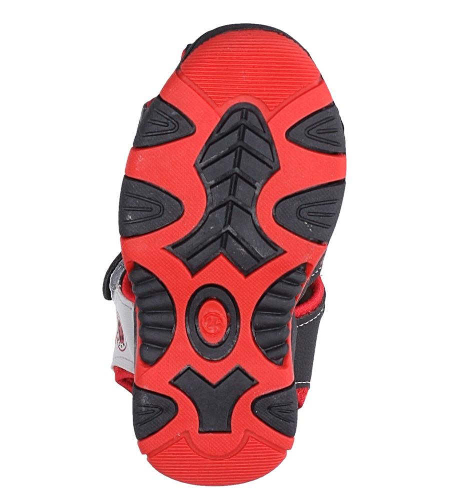 Czarne sandały na rzep Casu 58005 wysokosc_platformy 1 cm