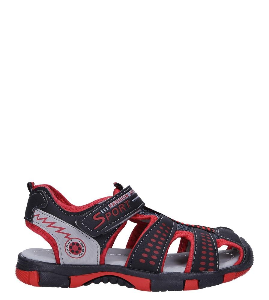 Czarne sandały na rzep Casu 58006