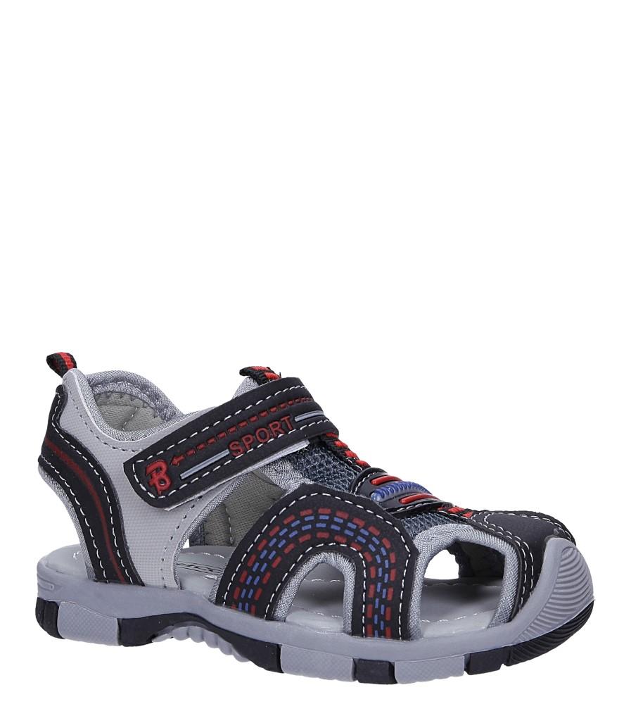 Czarne sandały na rzep Casu 58009 producent Casu