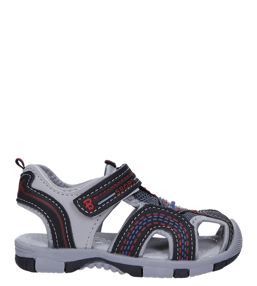 Czarne sandały na rzep Casu 58009 model 58009