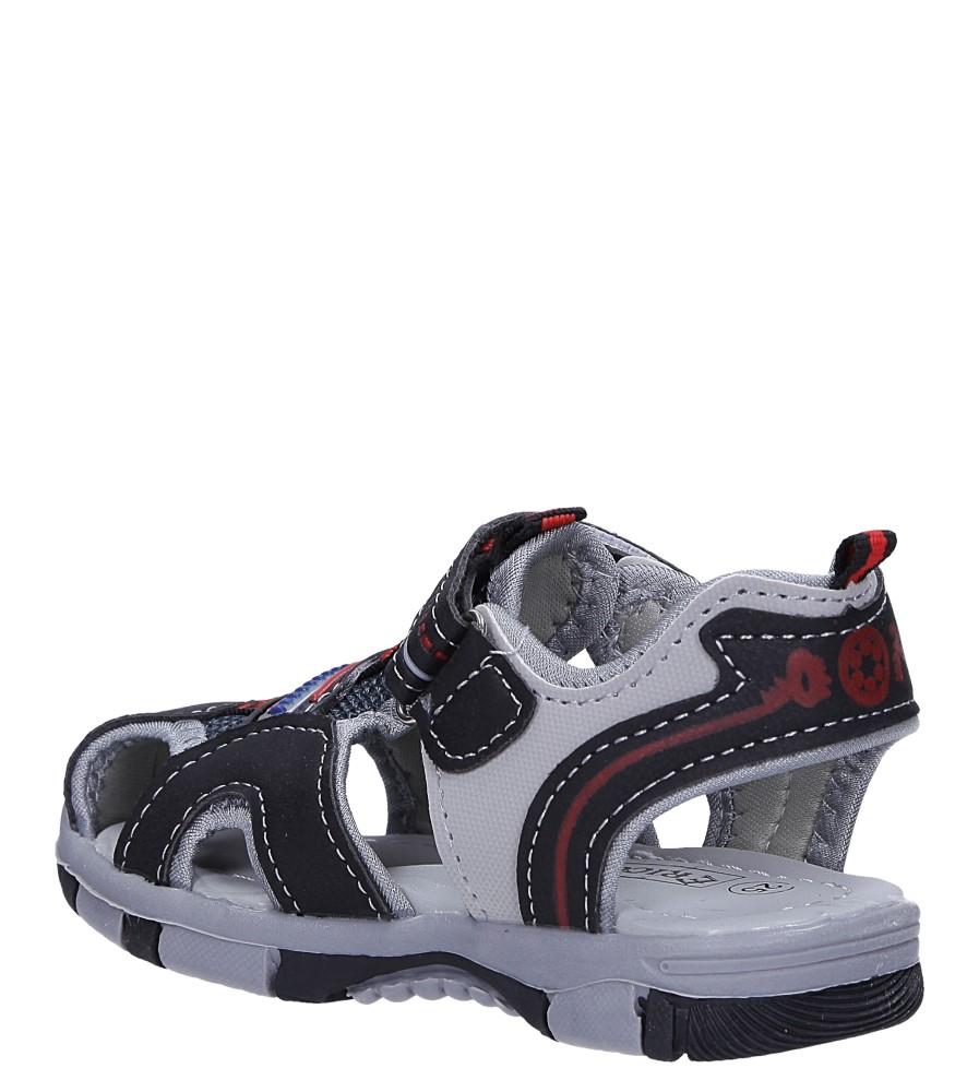 Czarne sandały na rzep Casu 58009 sezon Lato