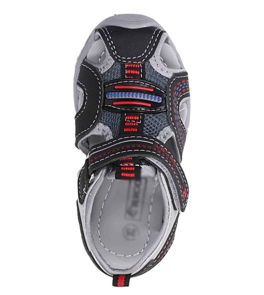 Czarne sandały na rzep Casu 58009 kolor czarny
