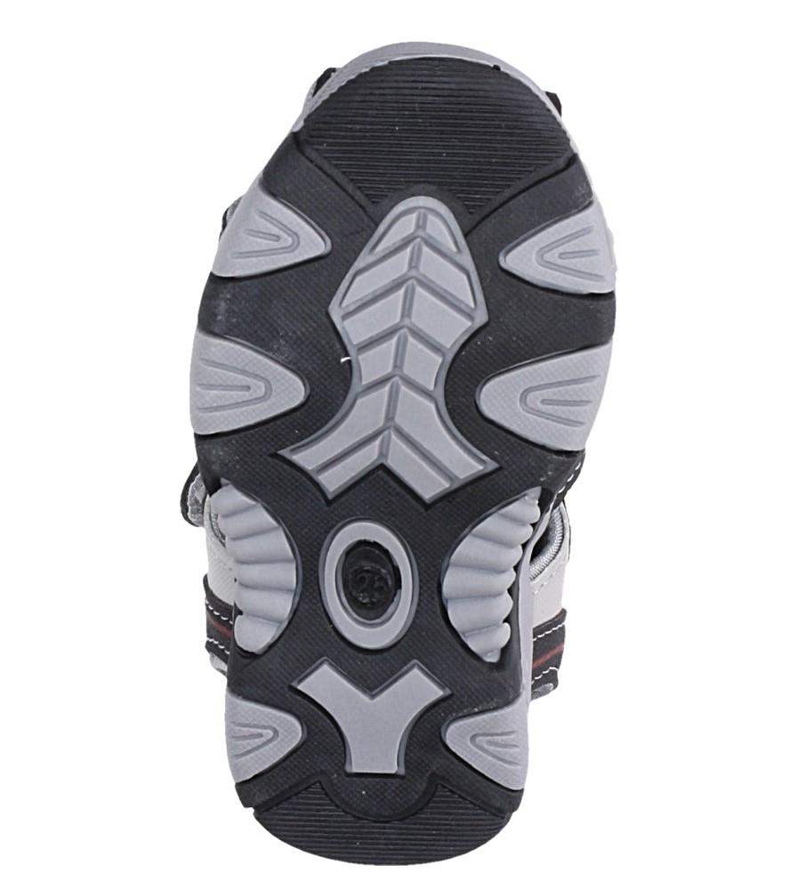 Czarne sandały na rzep Casu 58009 wysokosc_platformy 1 cm