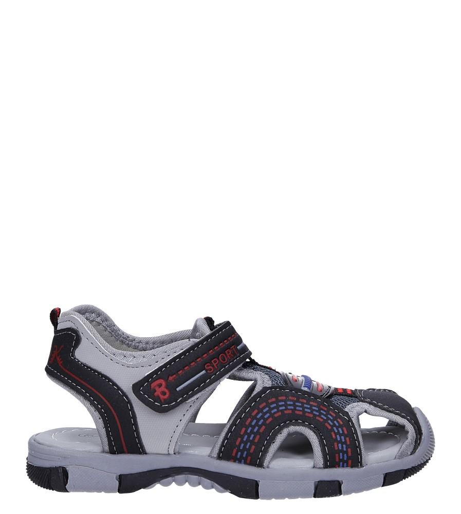 Czarne sandały na rzep Casu 58010