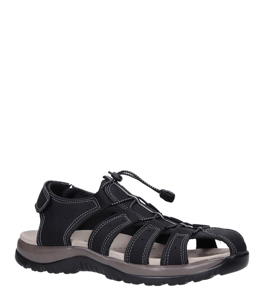 Czarne sandały na rzep Casu B9661 producent Casu