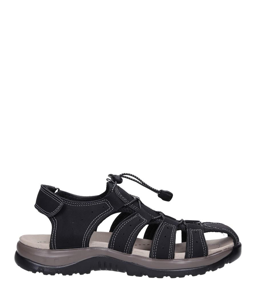 Czarne sandały na rzep Casu B9661