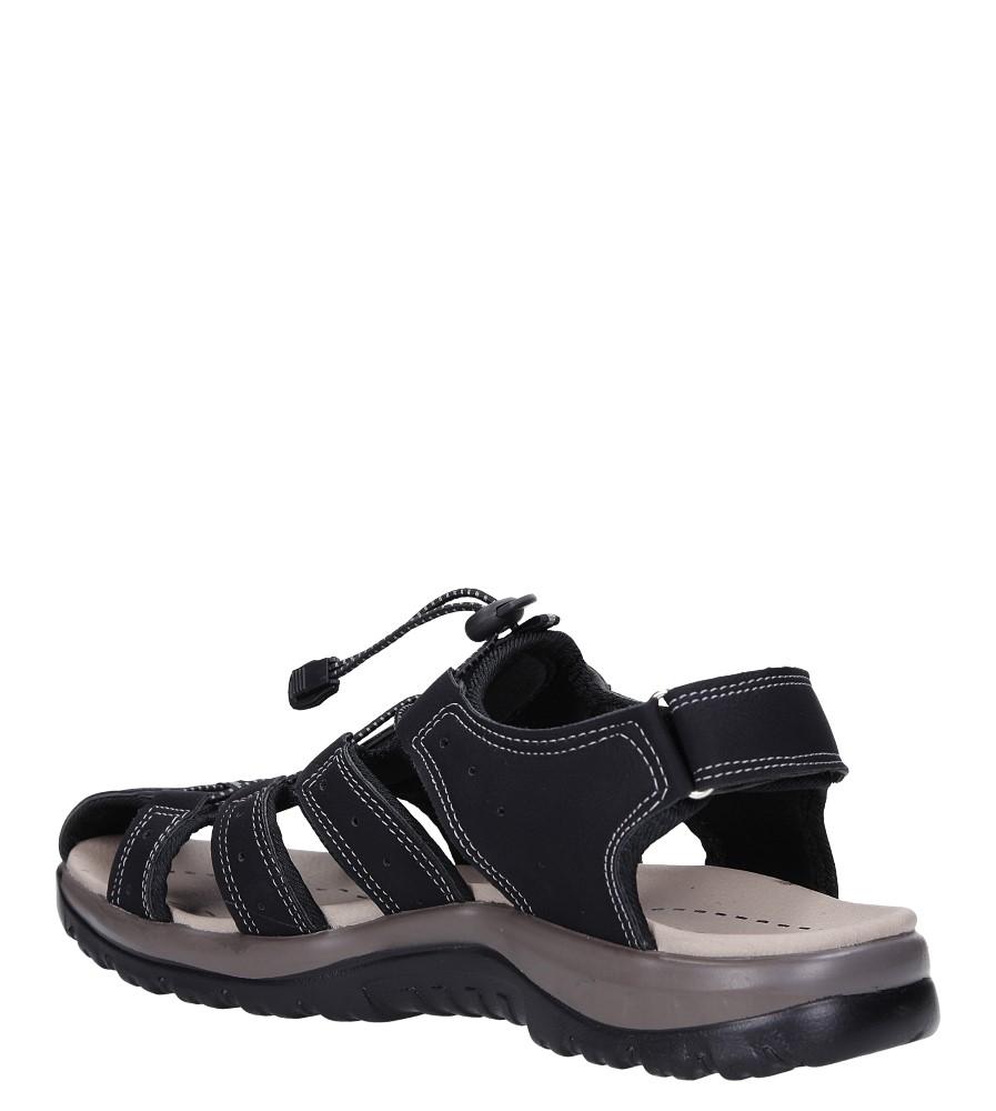 Czarne sandały na rzep Casu B9661 sezon Lato