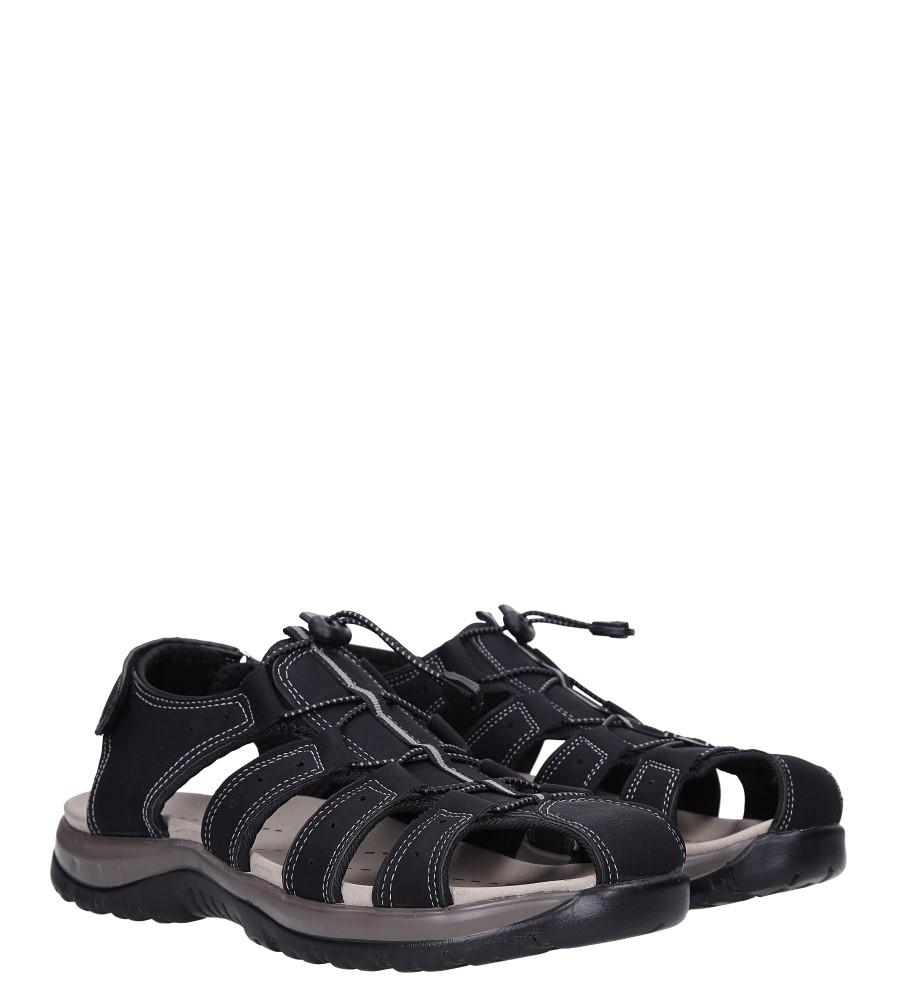 Czarne sandały na rzep Casu B9661 kolor czarny