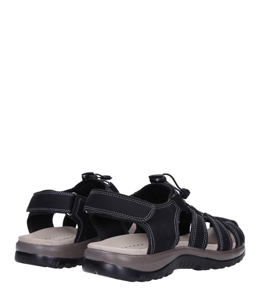 Czarne sandały na rzep Casu B9661 wysokosc_platformy 2 cm