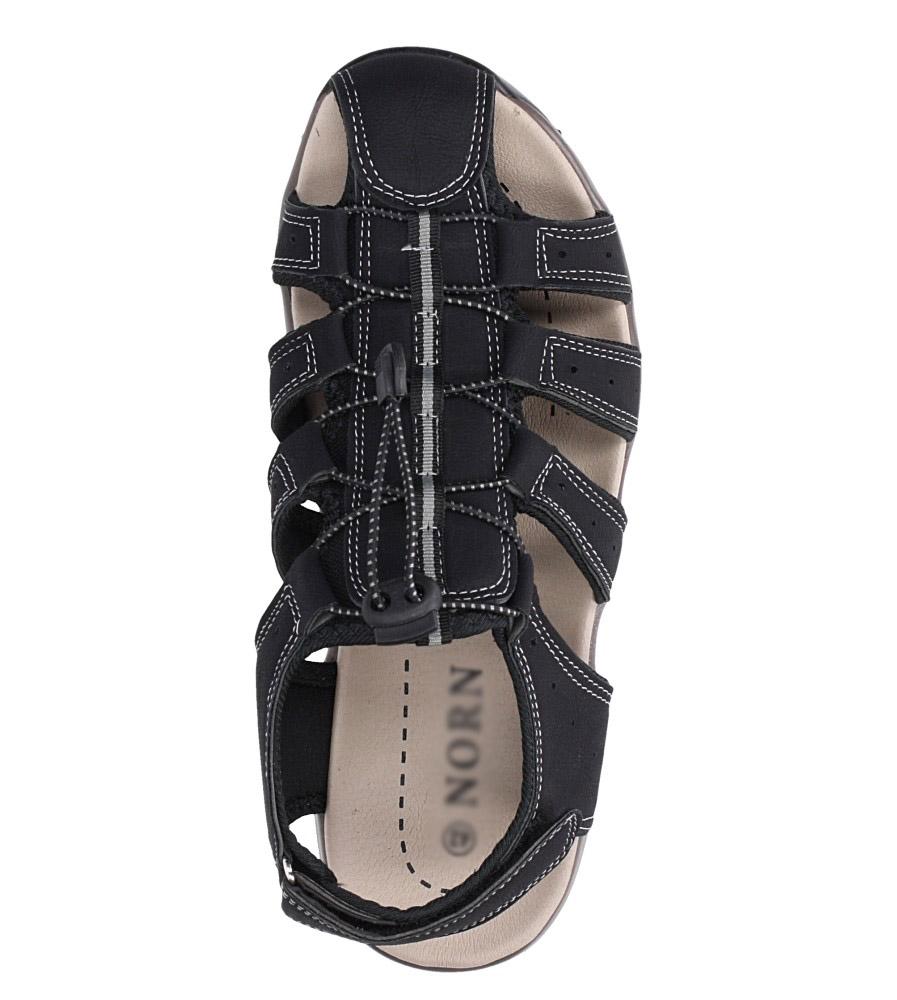 Czarne sandały na rzep Casu B9661 wys_calkowita_buta 10 cm