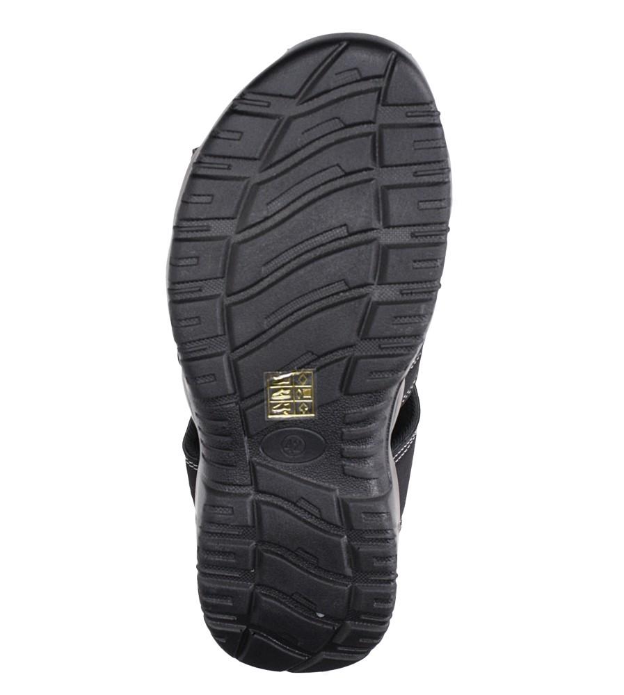 Czarne sandały na rzep Casu B9661 wierzch skóra ekologiczna