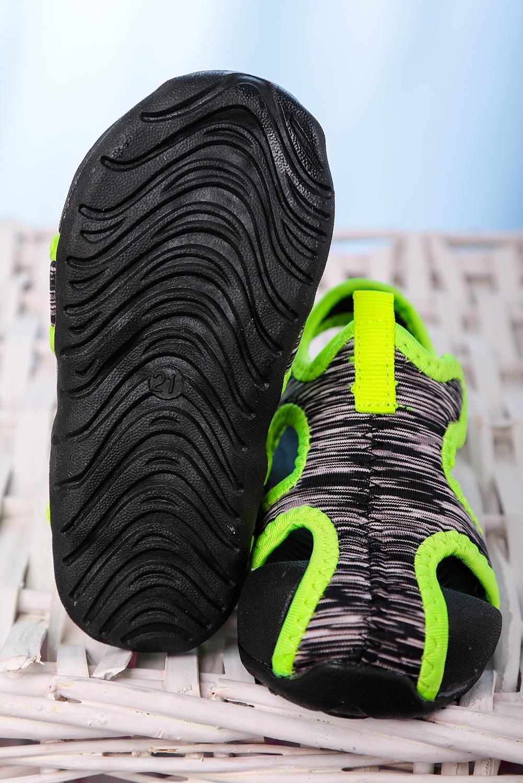 Czarne sandały na rzep Casu LA108 czarny