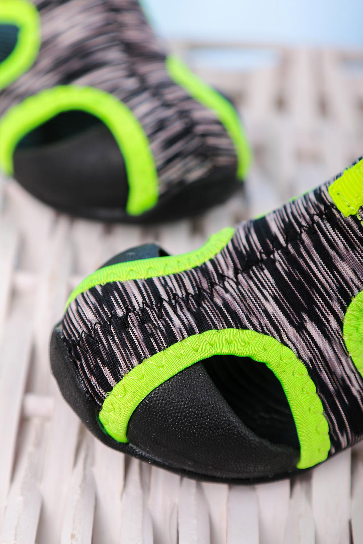 Czarne sandały na rzep Casu LA109