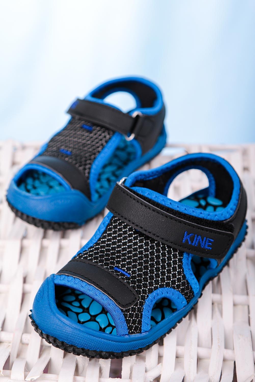 Czarne sandały na rzep Casu TLX-2562 czarny