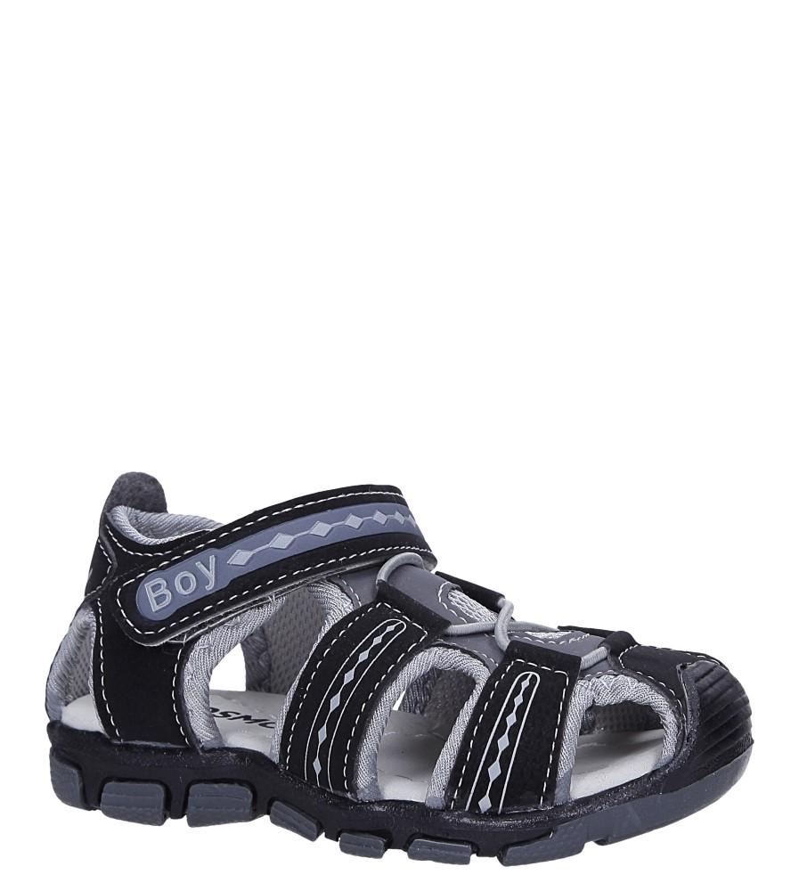 Czarne sandały na rzep Casu Y106B