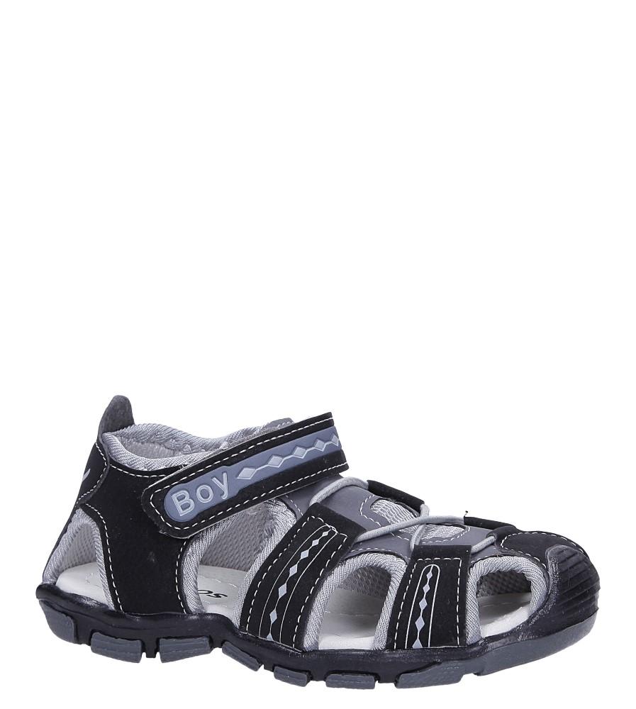 Czarne sandały na rzep Casu Y106C