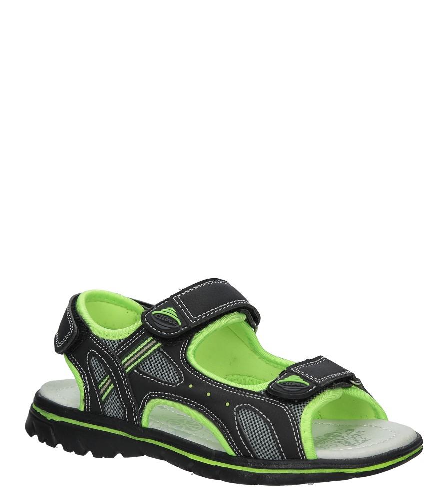 Czarne sandały na rzep Casu Z-312 producent Casu
