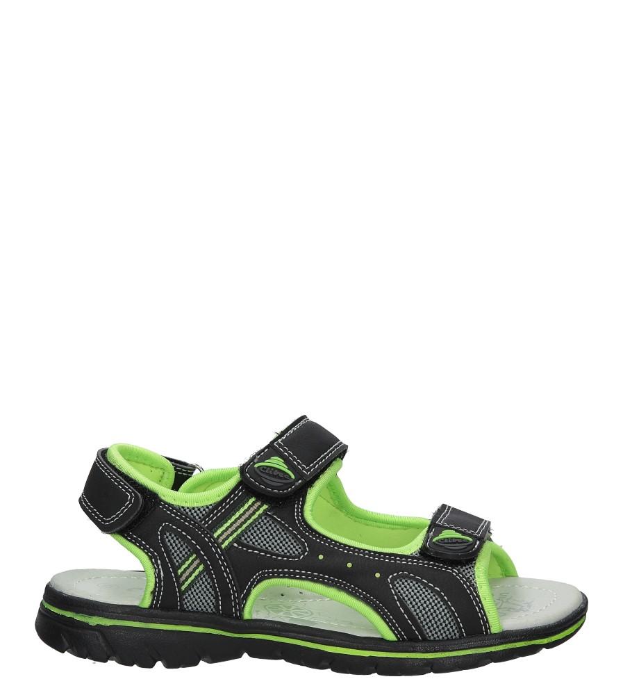 Czarne sandały na rzep Casu Z-312