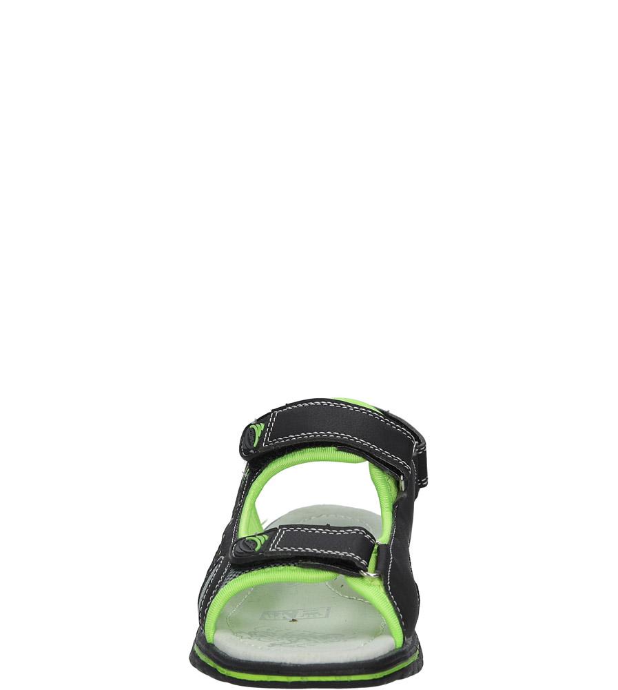 Czarne sandały na rzep Casu Z-312 sezon Lato