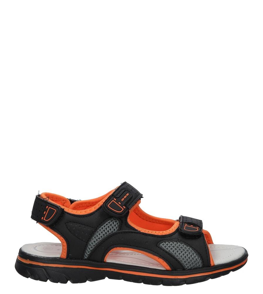 Czarne sandały na rzep Casu Z-314