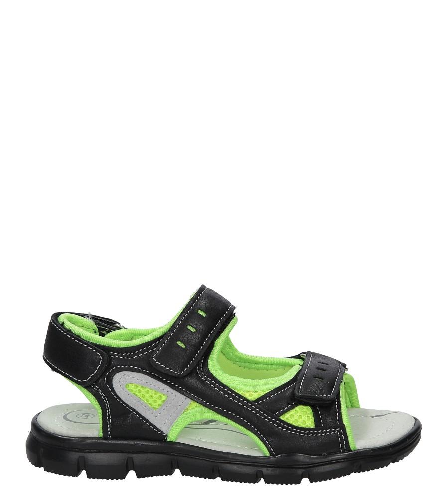 Czarne sandały na rzep Casu Z-315