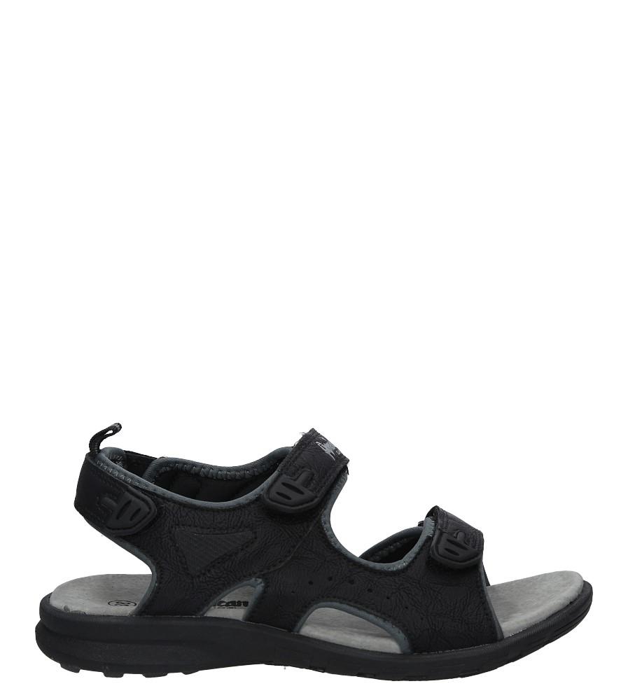 Czarne sandały na rzepy American BIF1906 czarny