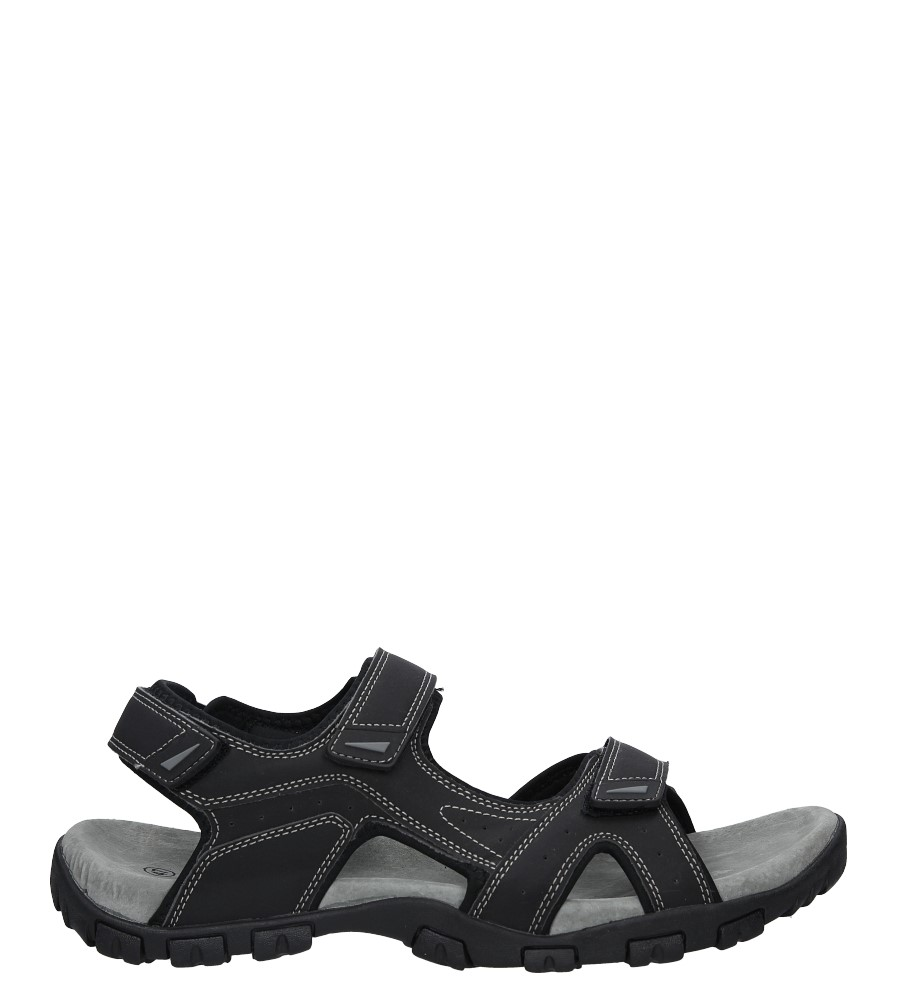 Czarne sandały na rzepy American BIF6201 czarny