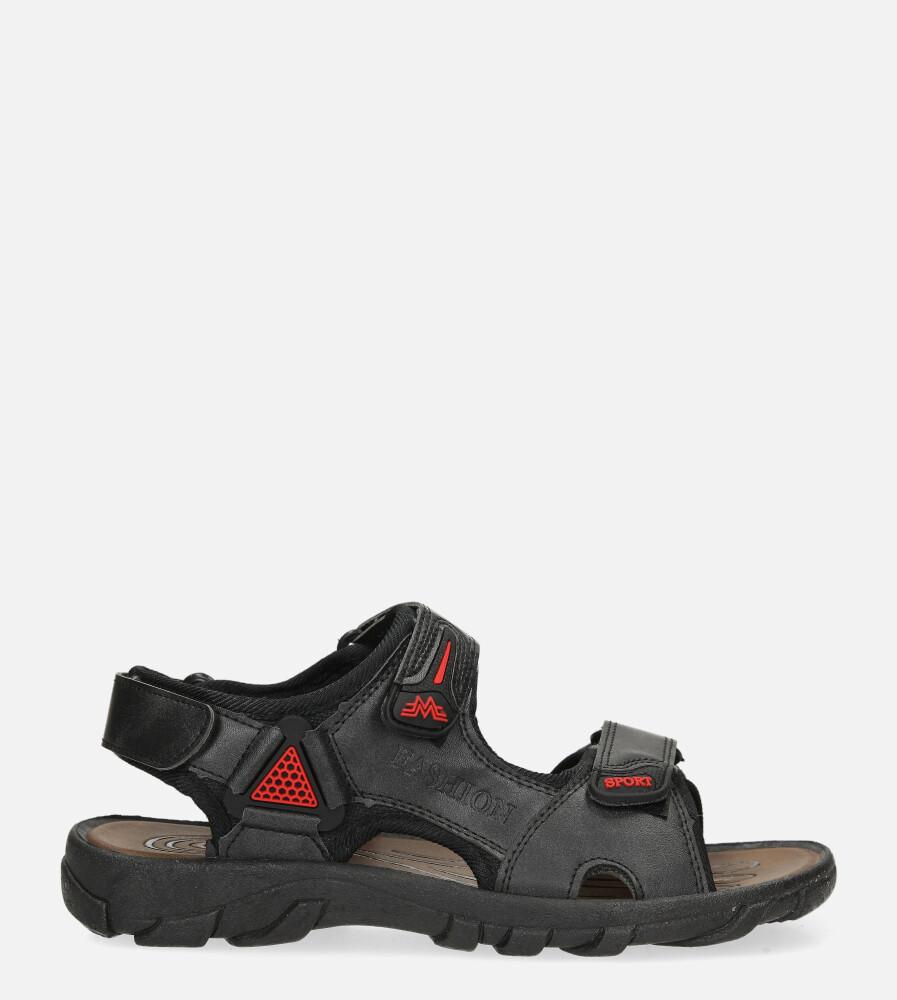 Czarne sandały na rzepy Casu 3127 model 3127