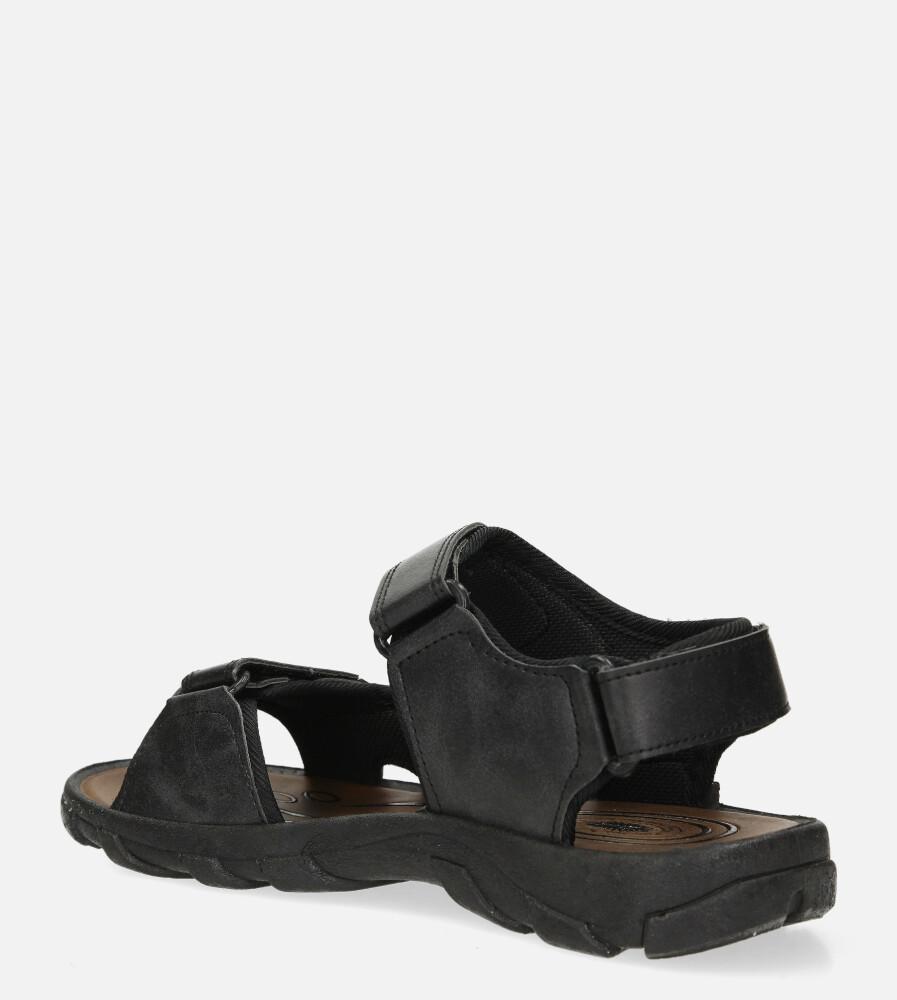 Czarne sandały na rzepy Casu 3127 sezon Lato