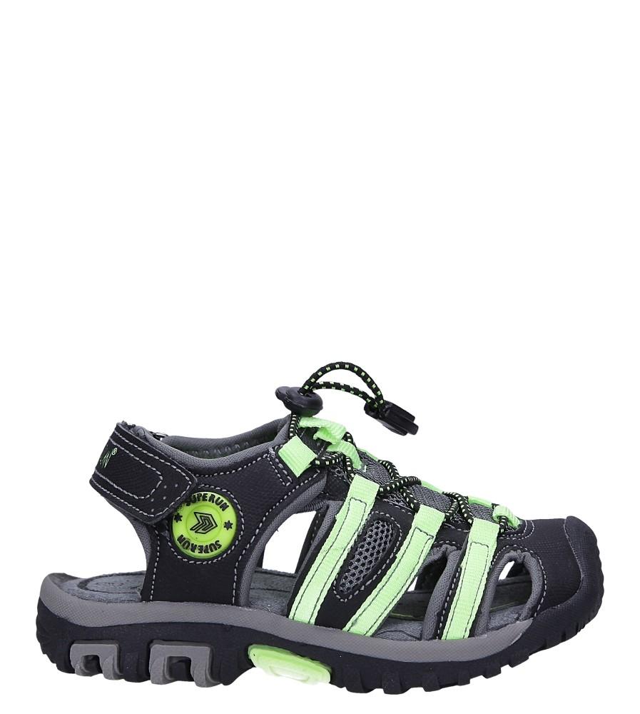Czarne sandały na rzepy Casu 5540