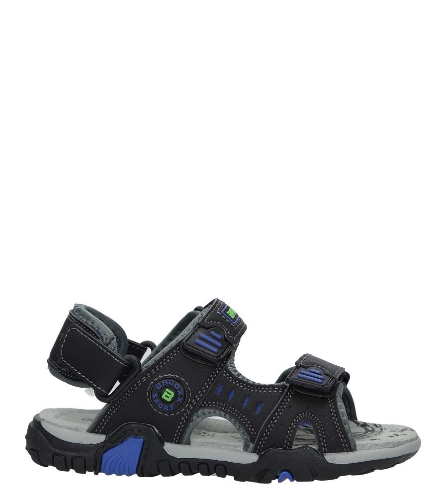 Czarne sandały na rzepy Casu 5SD9070