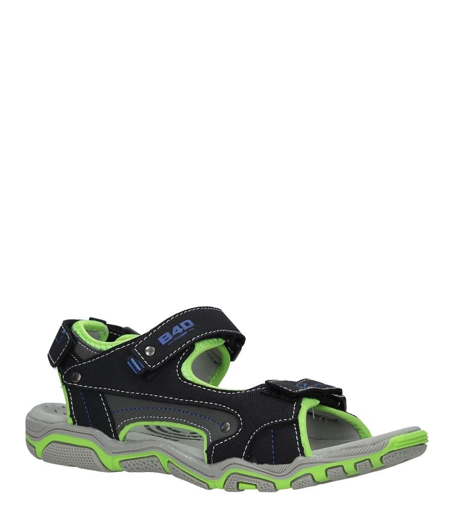 Czarne sandały na rzepy Casu 5SD9137 czarny