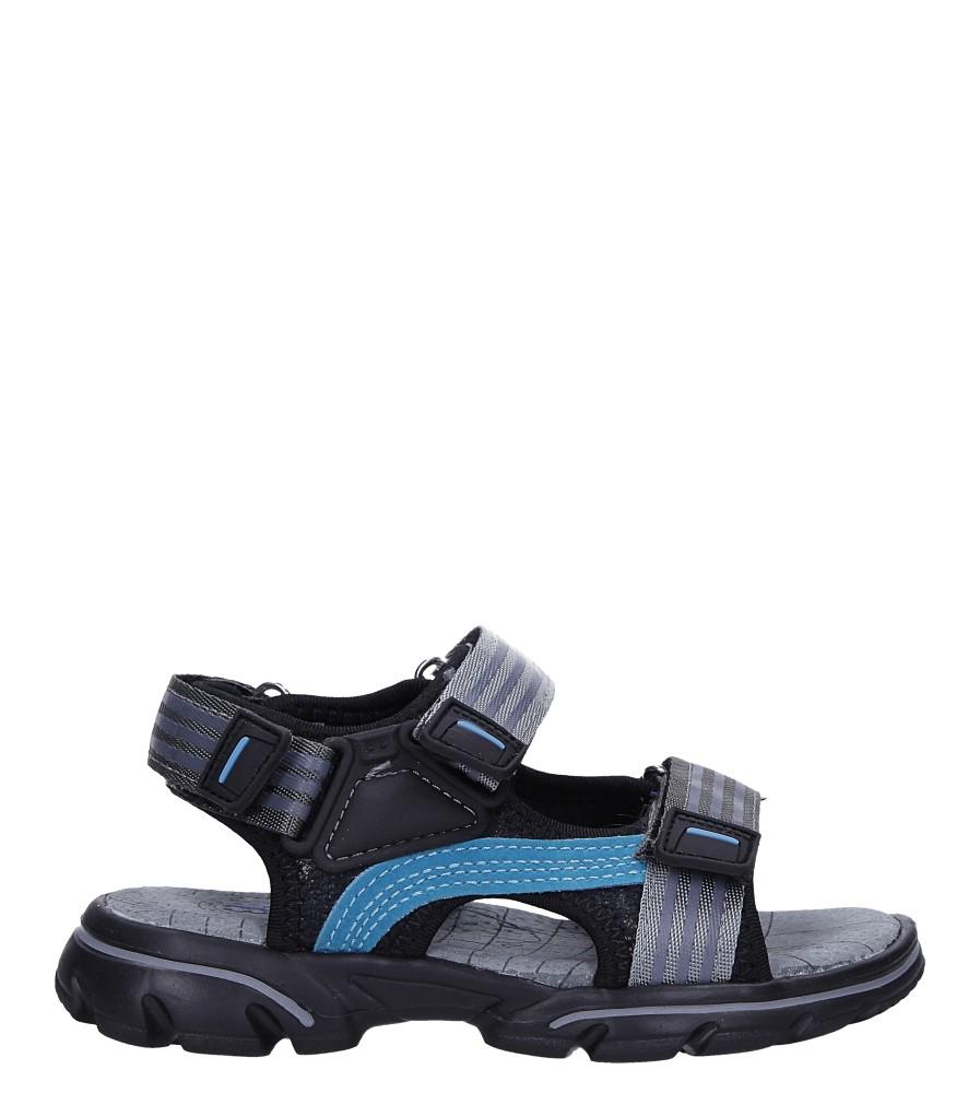 Czarne sandały na rzepy Casu 7036