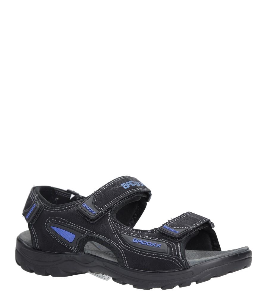 Czarne sandały na rzepy Casu 7SD9123