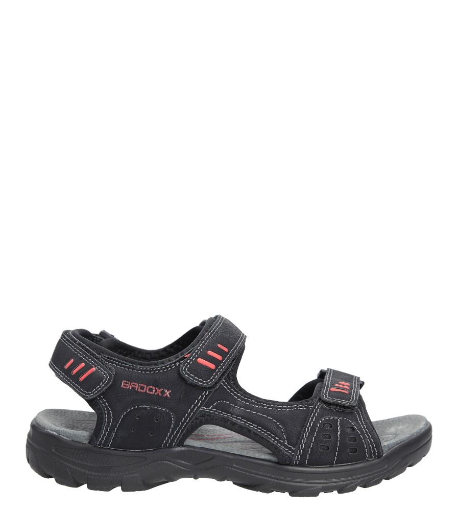 Czarne sandały na rzepy Casu 7SD9134
