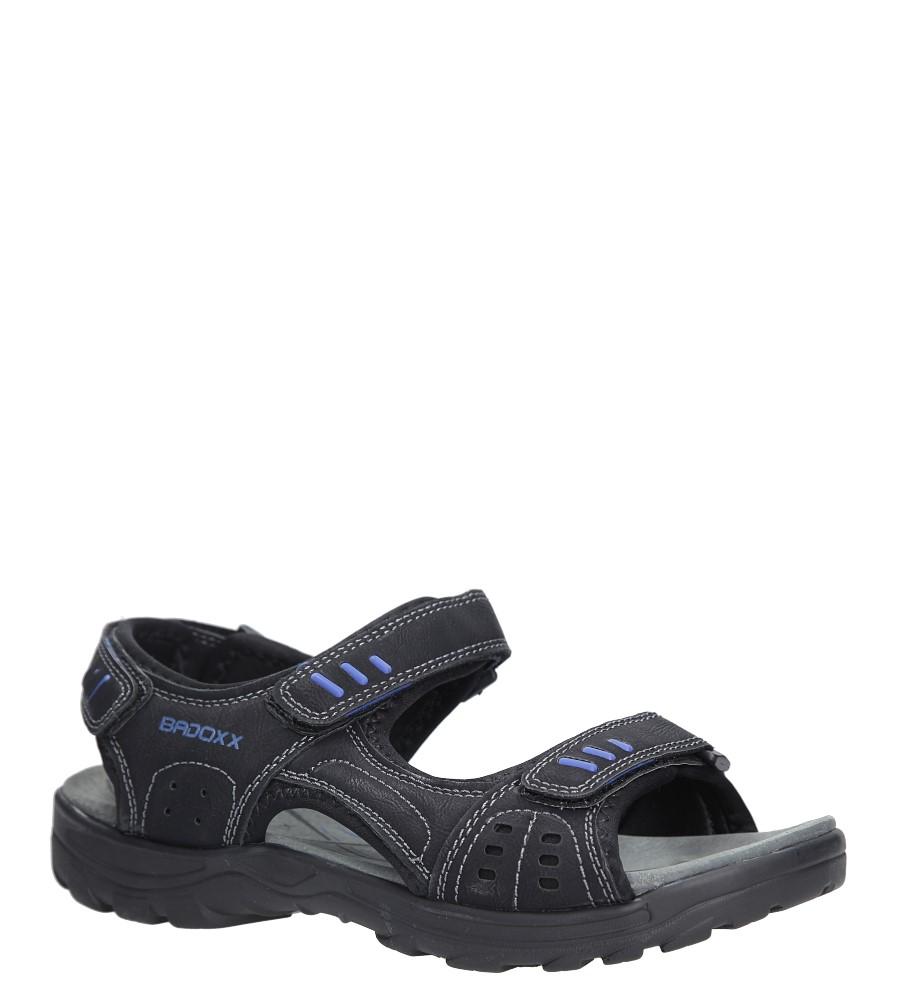 Czarne sandały na rzepy Casu 7SD9134 producent Casu