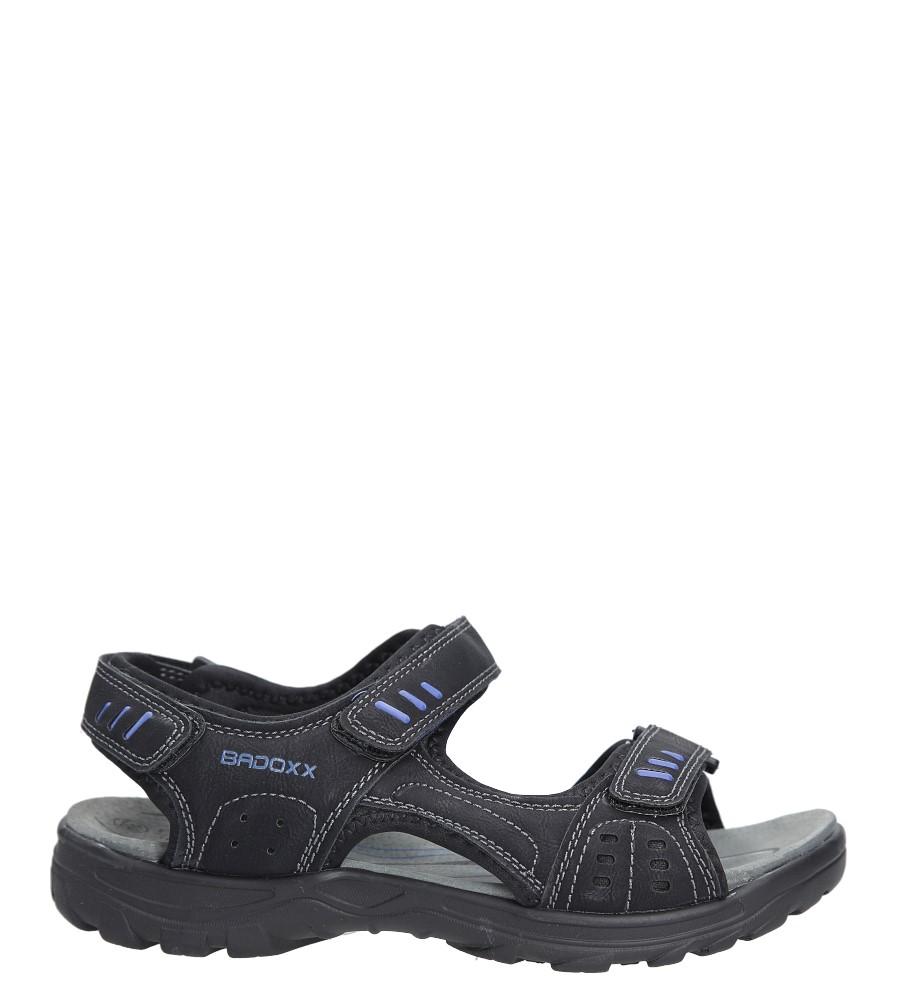 Czarne sandały na rzepy Casu 7SD9134 model 7SD9134