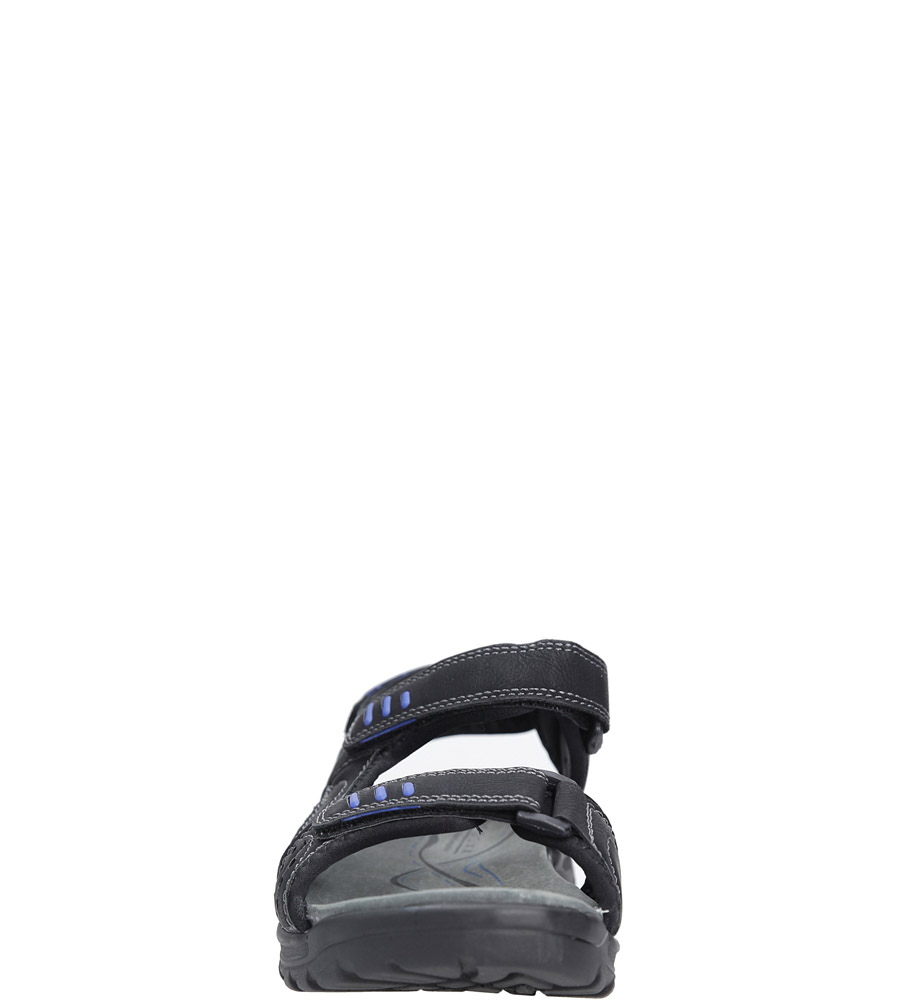 Czarne sandały na rzepy Casu 7SD9134 sezon Lato