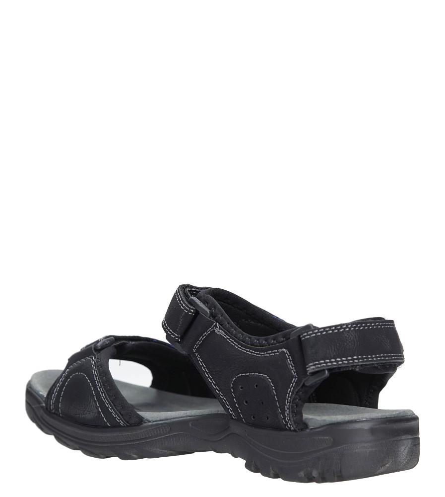 Czarne sandały na rzepy Casu 7SD9134 kolor czarny