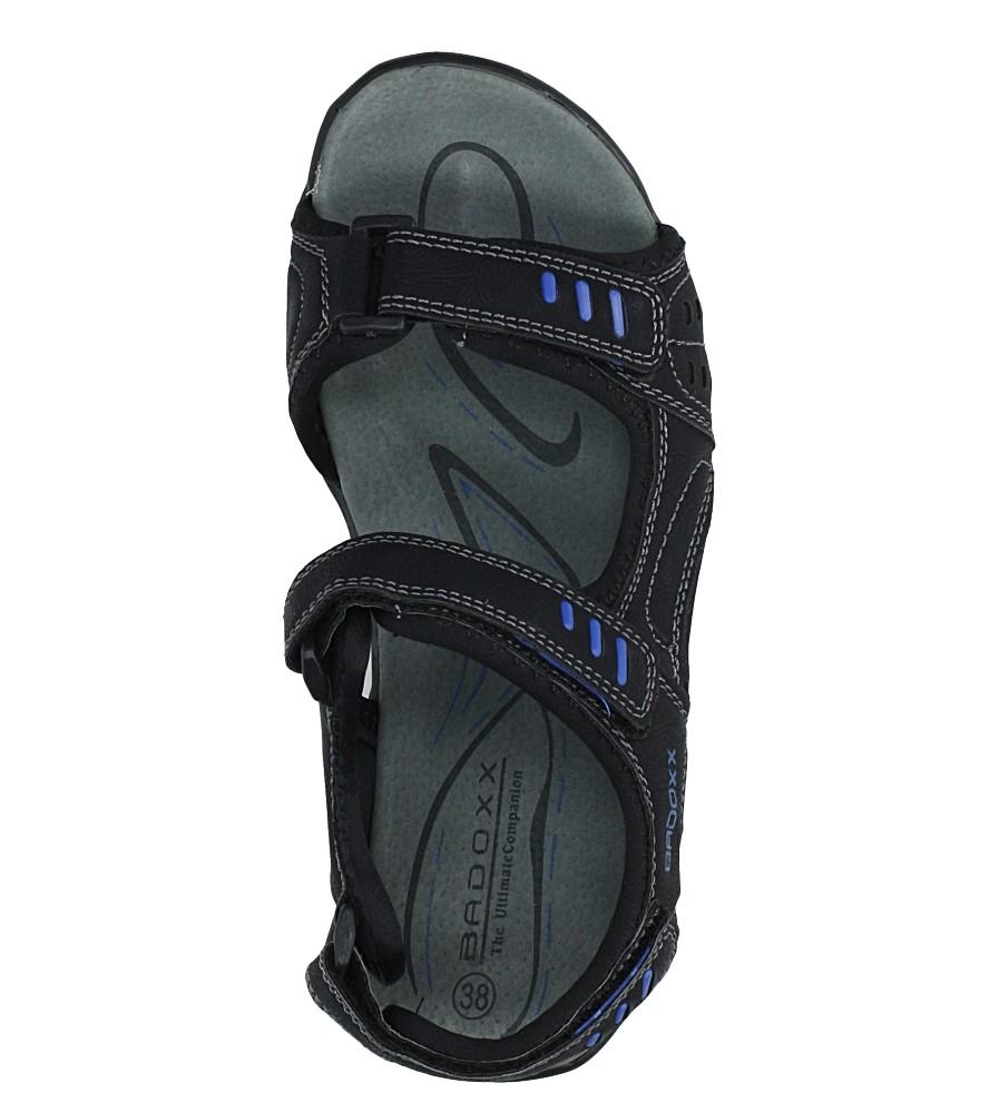 Czarne sandały na rzepy Casu 7SD9134 wysokosc_obcasa 3.5 cm