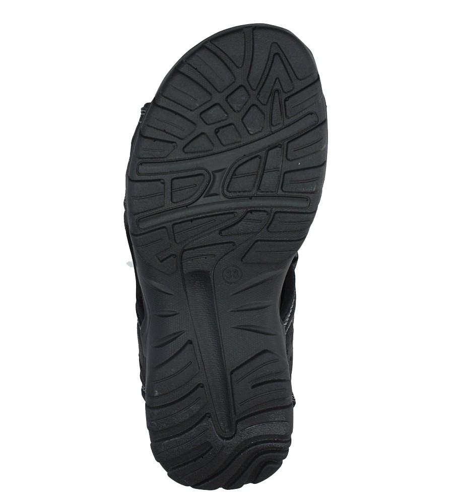 Czarne sandały na rzepy Casu 7SD9134 wysokosc_platformy 2 cm
